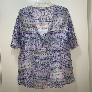 Indigo Collection M &S Lilac Mix Two Piece Top